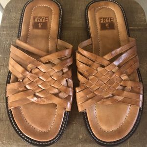 Frye Men's Woven Leather sandals Made in Mexico